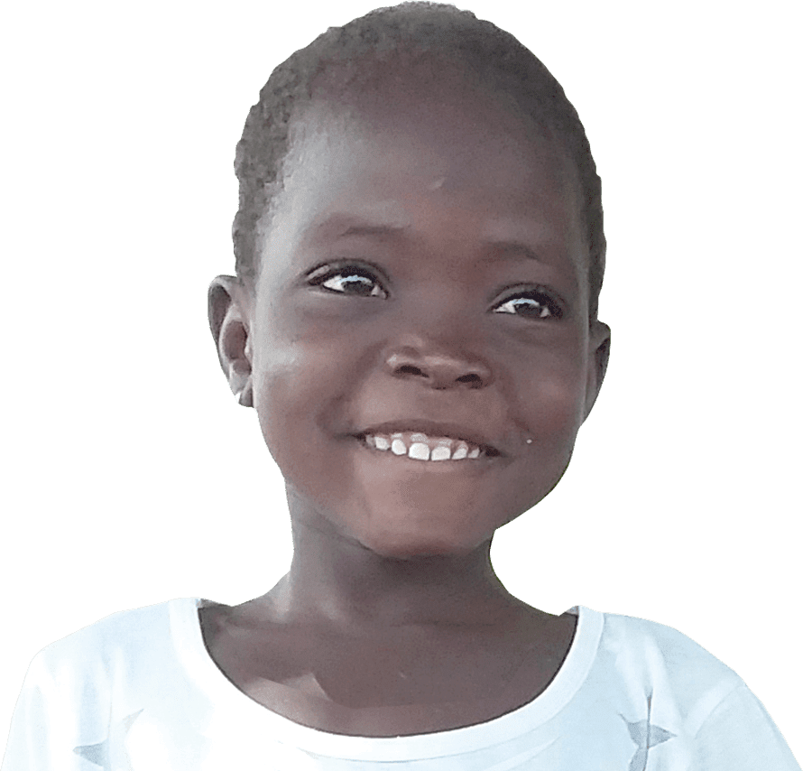 Six year old Ghanaian girl, Nfunyan, smiles for the camera