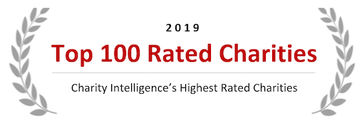 Charity Intelligence's Top 100 Charity 2019 icon