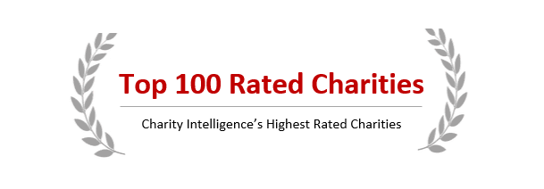 Charity Intelligence Top 100 Rated Charity logo