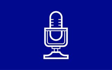 Illustration mikrofon som sänder podcast