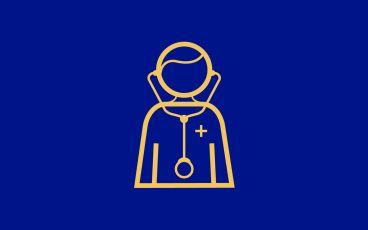 Illustration av en doktor