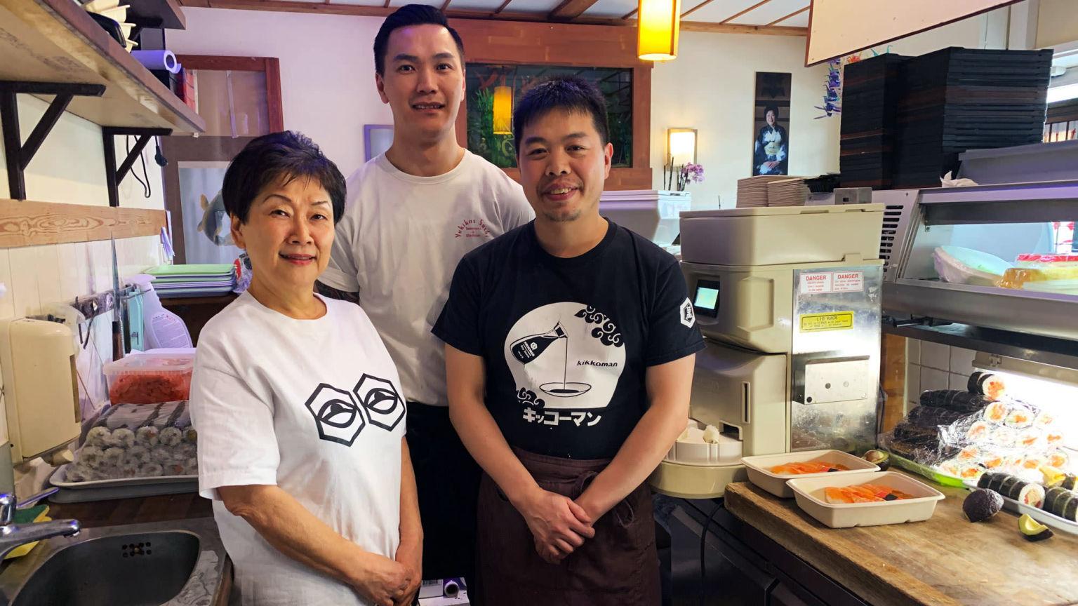 Porträtt av Yukiko Willebrand och kollegorna Xiang och Ogi, Företagsvän sedan 2014