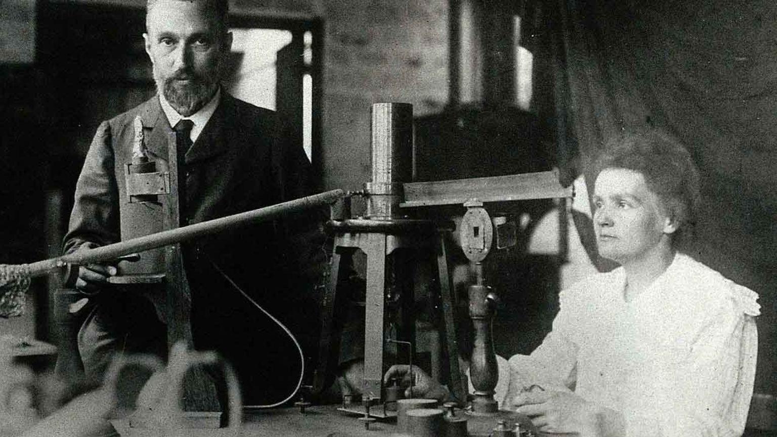 Marie Curie och Pierre Curie