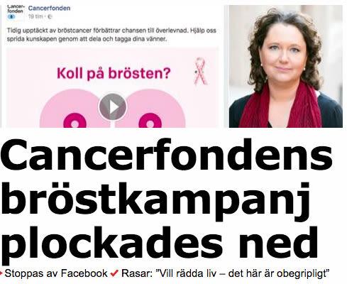 Oppet Brev Till Facebook Om Var Brostskola Cancerfonden