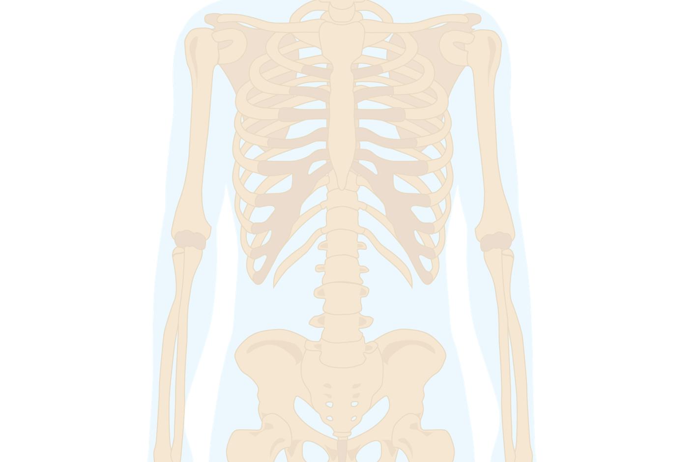 ont i skelettet i armarna