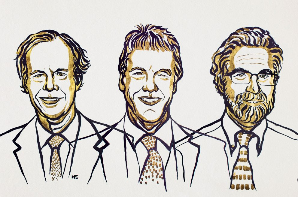 Illustration av tre män.