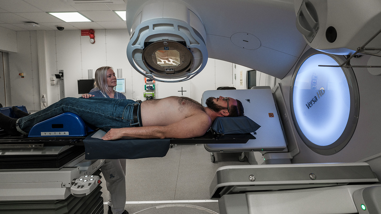 Patient i strålkanon