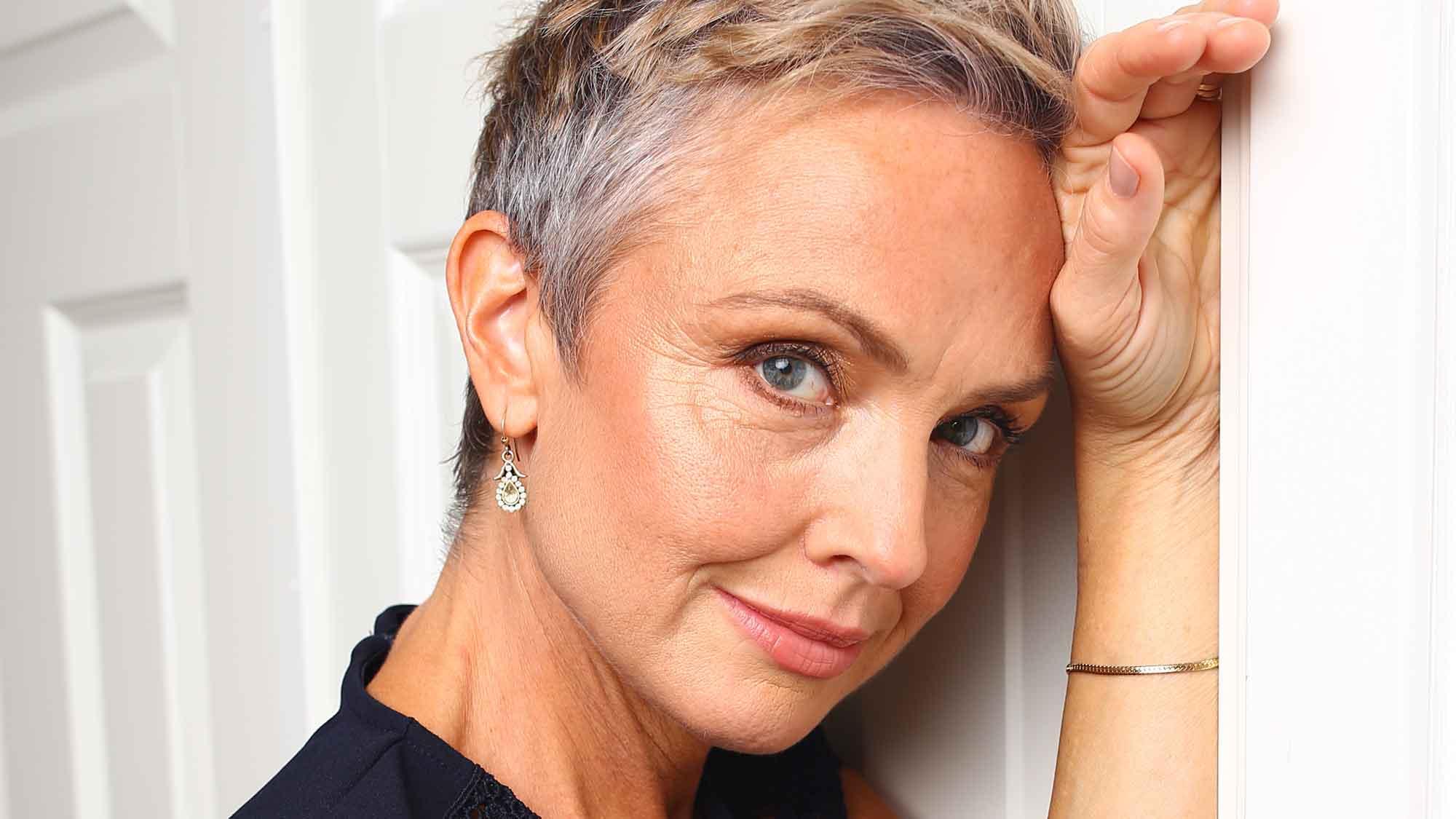 Justine Kirk som drabbats av bröstcancer