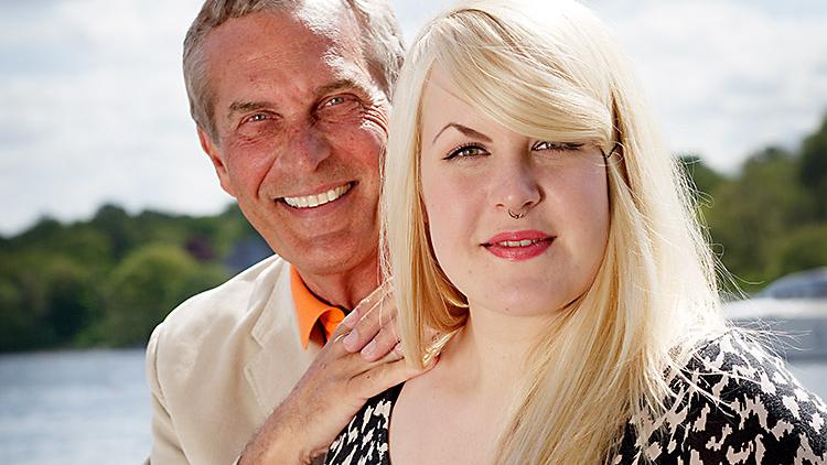 Claes med sin dotter Hanna.