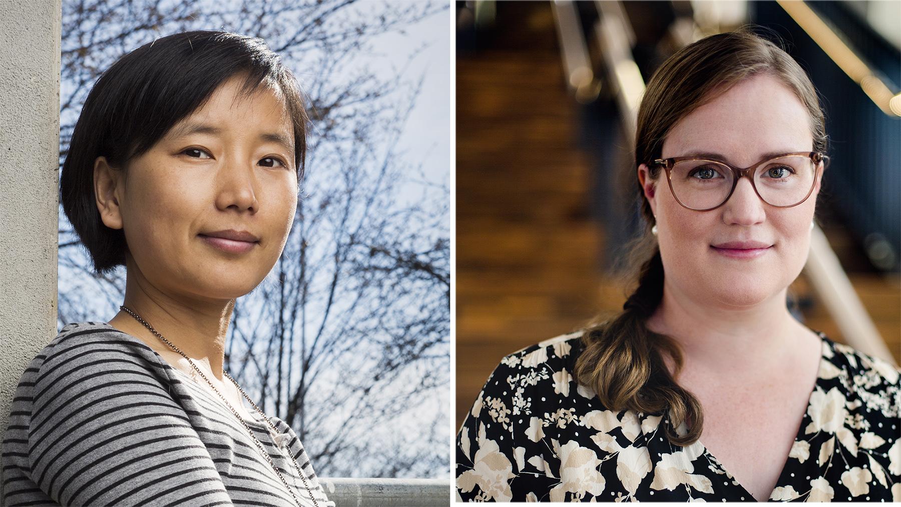 Porträtt av två kvinnor.