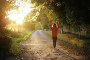 Woman exercising on run   Cannaray CBD
