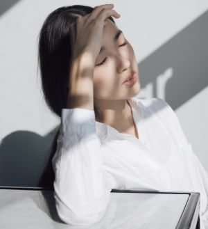 Woman with sunlight