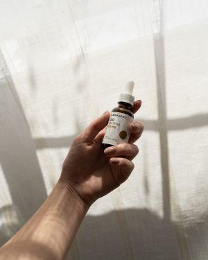 Cannaray CBD Oil Oral Drops in hand