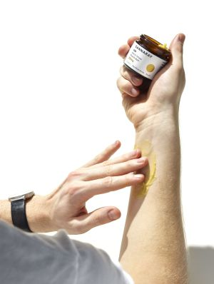 CBD muscle balm application