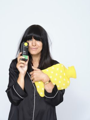 claudia winkleman with cannaray cbd night time oil drops