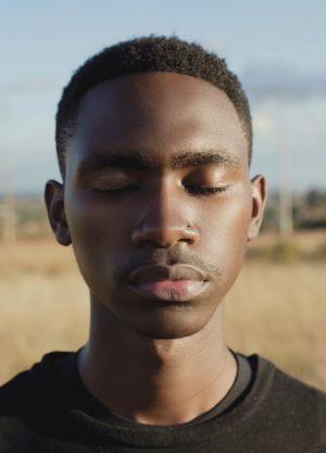 Portrait of a man in a field