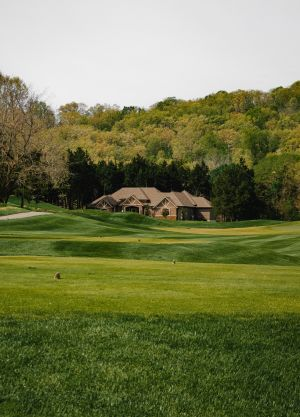 golf green and clubhouse