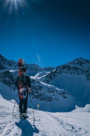 Snowboarder on slope