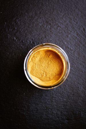 Pot of Curcumin Powder
