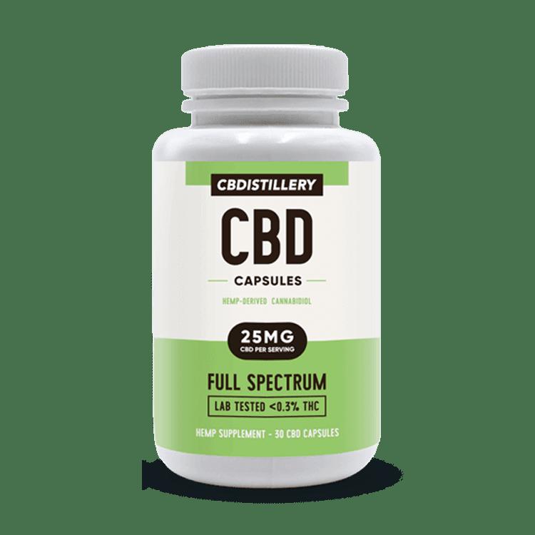 CBDistillery CBD Pill Capsules 25mg 30 count Vegetarian CBD Capsules