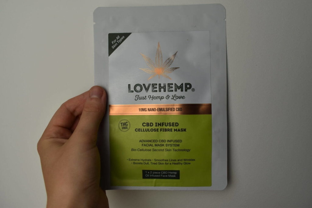 love hemp mask package