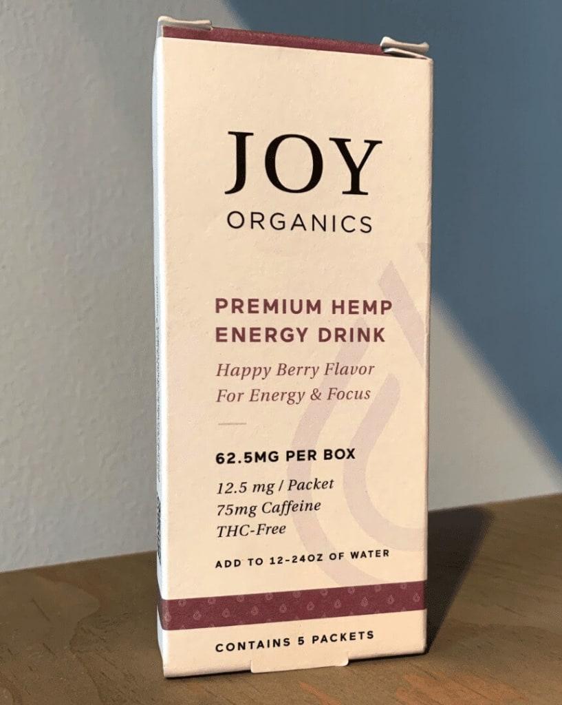 The Joy Organics Premium Hemp Energy Drink