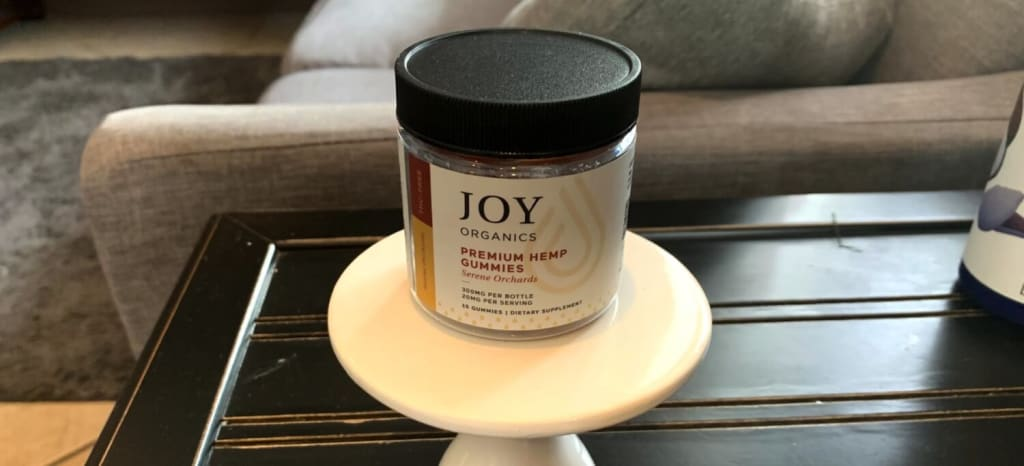 Let's Look at the Packaging - Joy Organics Premium Hemp Serene Orchards Gummies Review