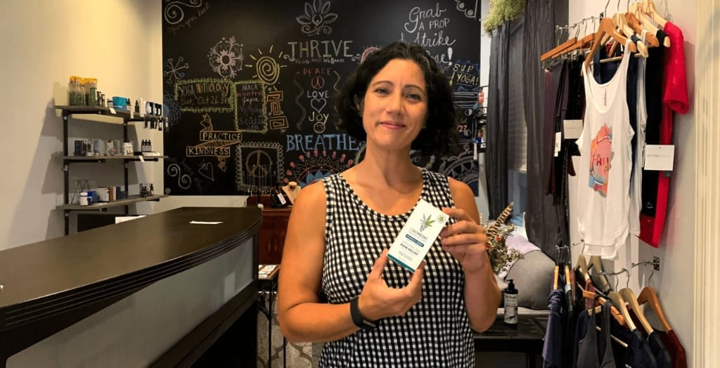 Jennifer Dixon with CBDMEDIC's Muscle and Joint Cream