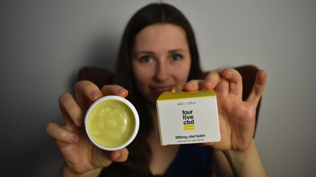 My personal experience with fourfivecbd CBD balm