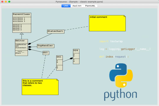 Install Pynsource Uml Tool For Python For Linux Using The Snap Store Snapcraft