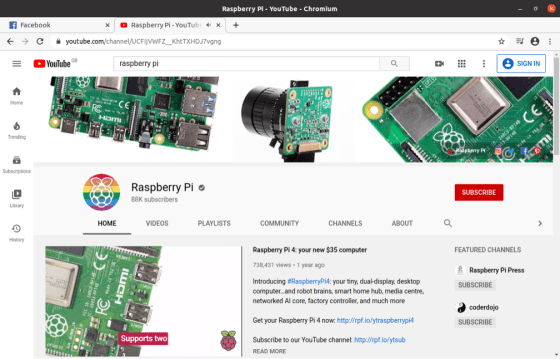 Ubuntu Raspberry-Pi Browse