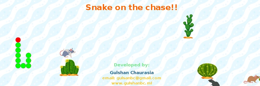 Snake on the chase banner