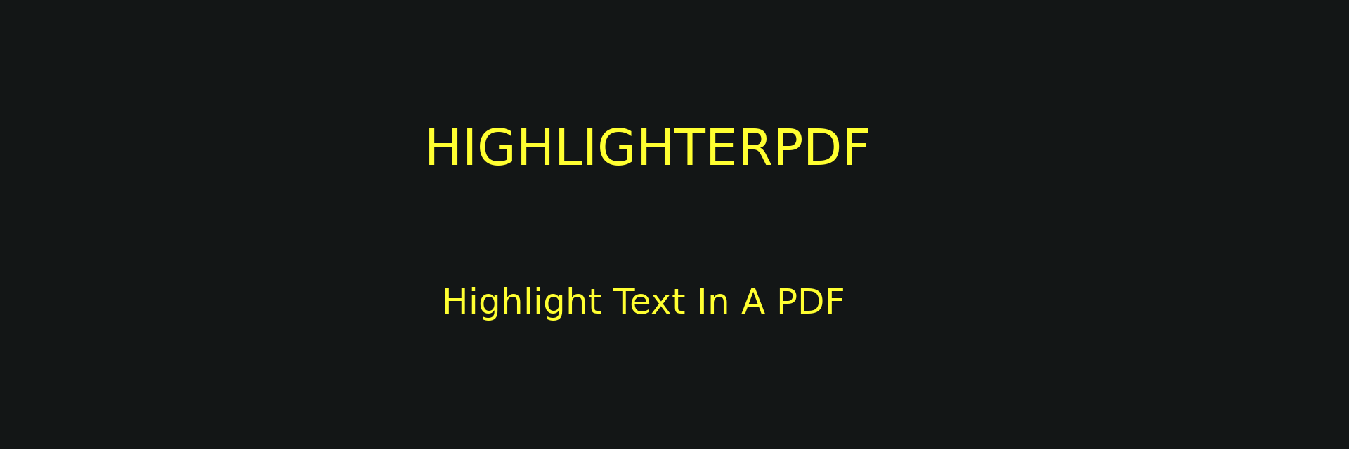 highlighterpdf banner