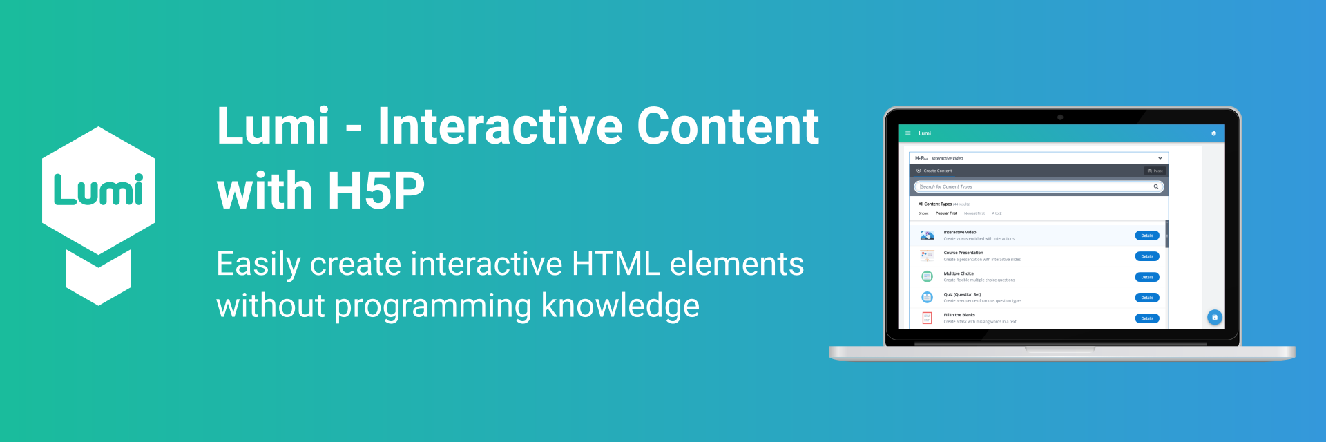 Lumi - Interactive Content with H5P banner