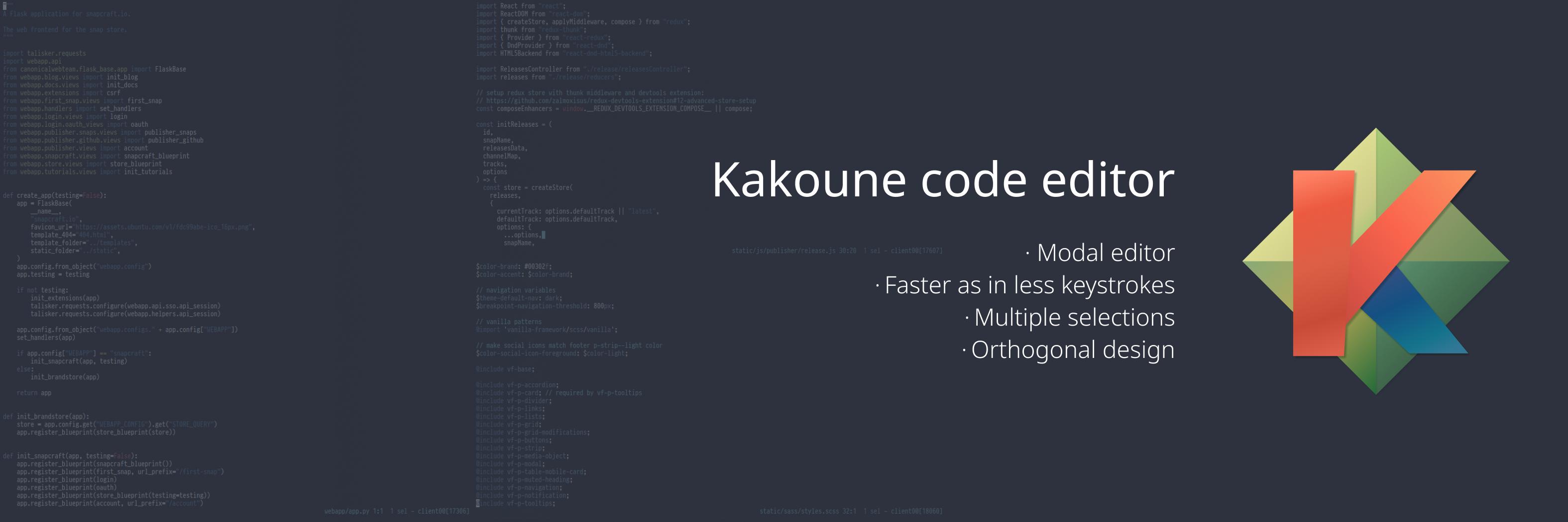 Kakoune code editor banner