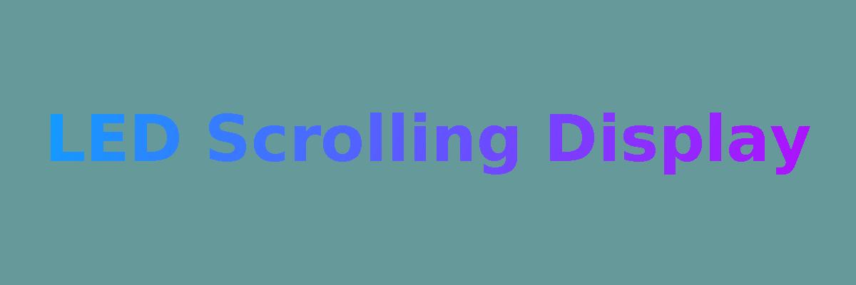 led-scrolling-display banner