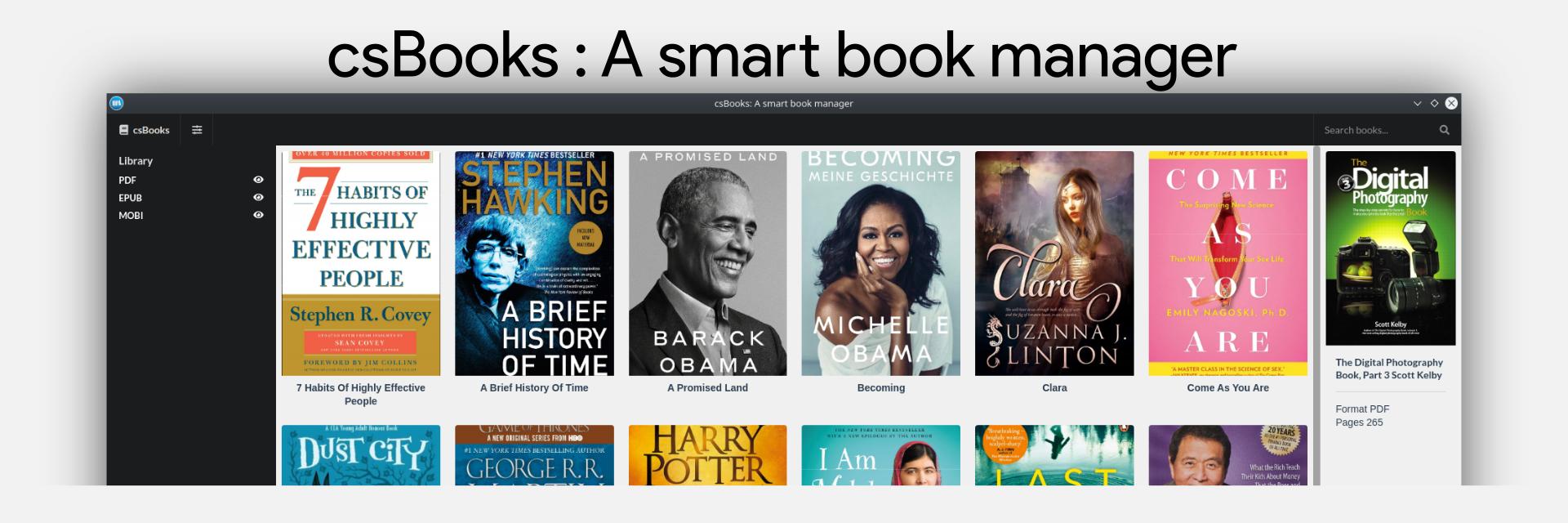 csBooks - A Smart Book Manager banner