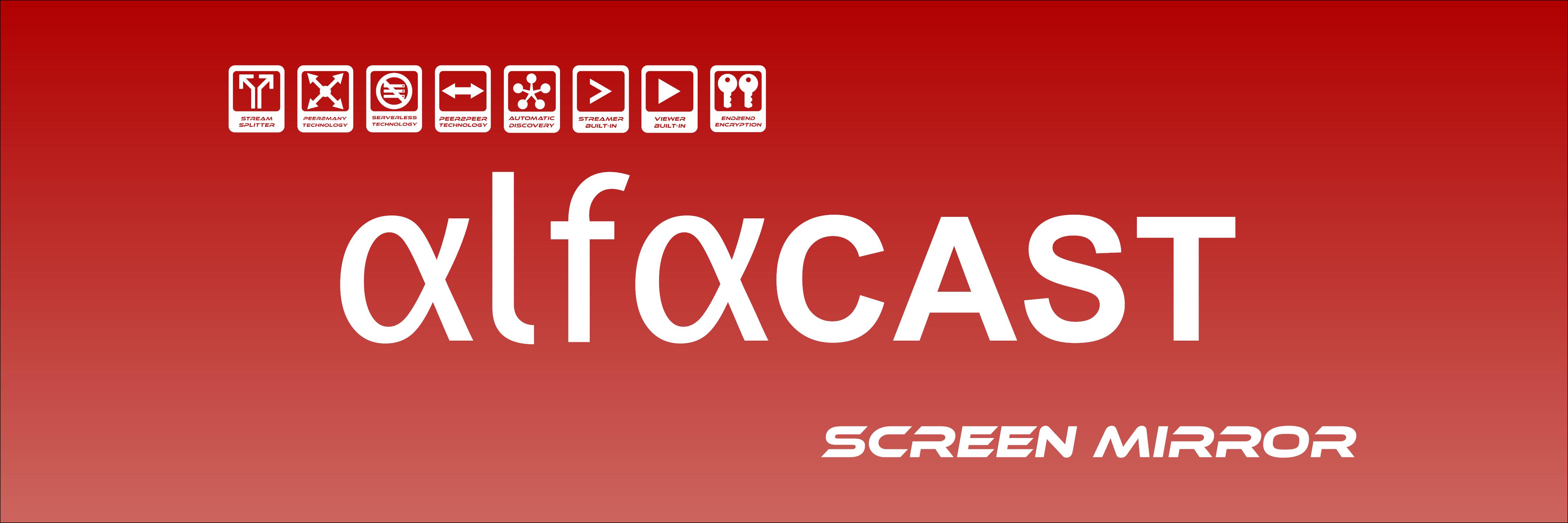 alfacast screen mirror banner