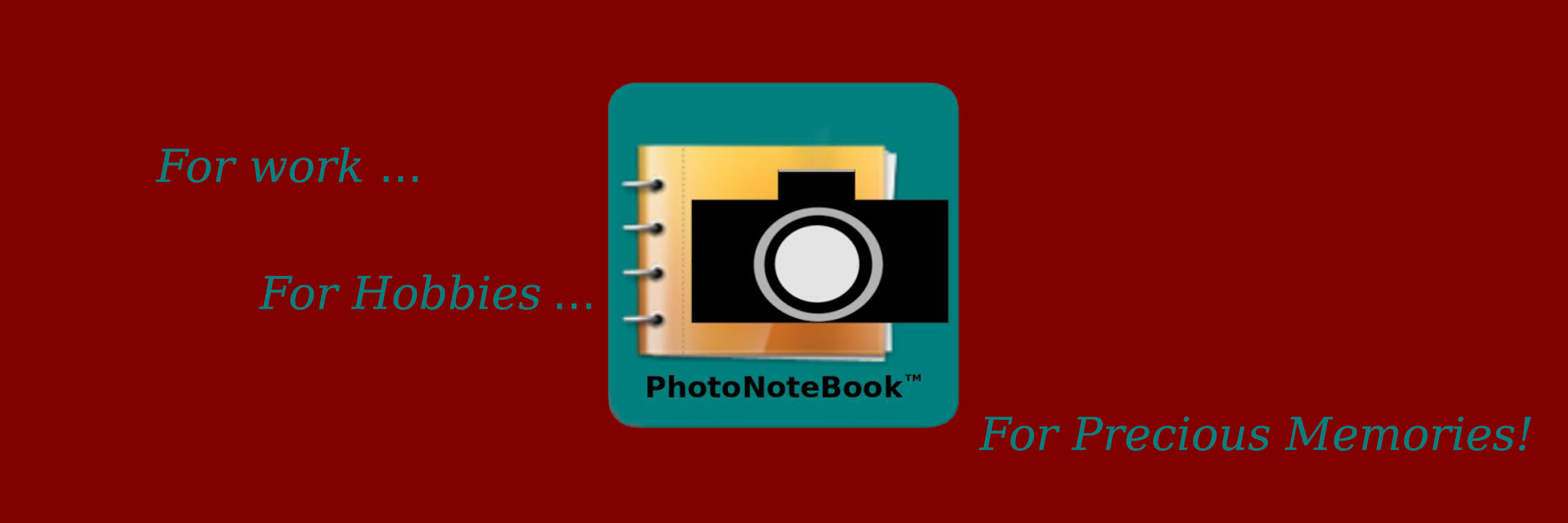 PhotoNoteBook™ banner