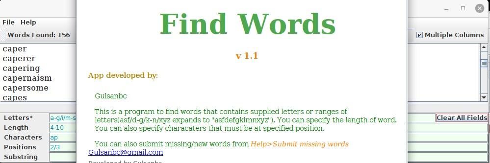 Find Words banner