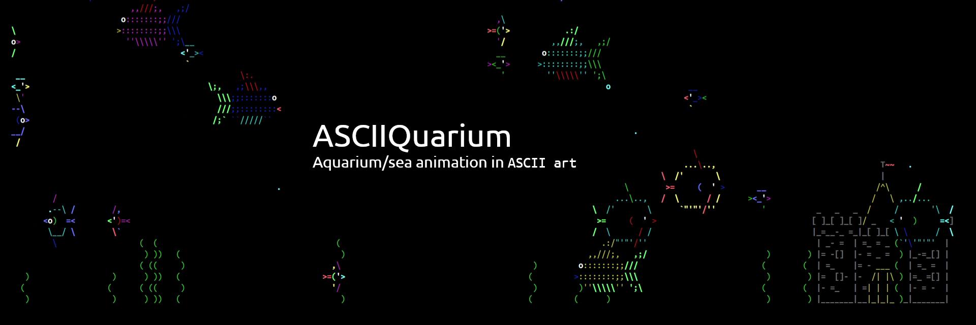 ASCIIQuarium (UNOFFICIAL) banner
