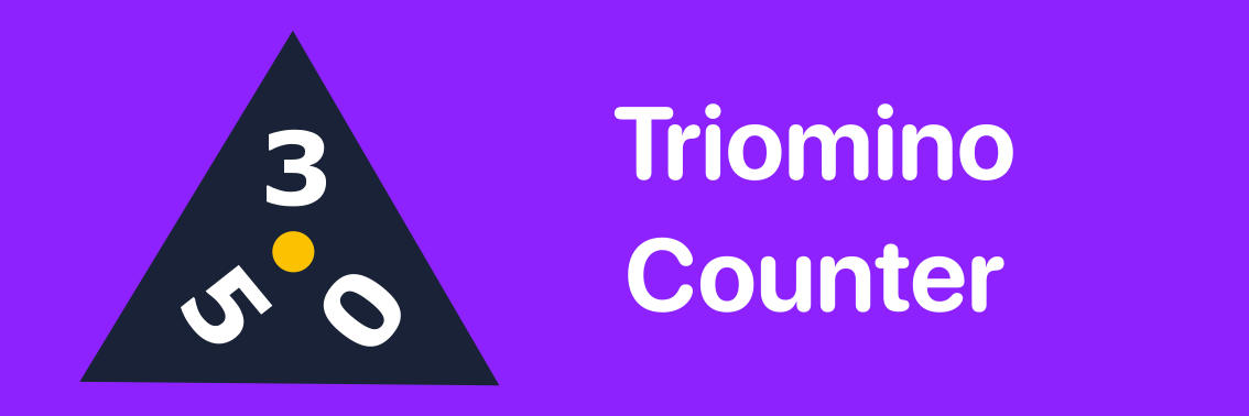 Triomino Counter banner