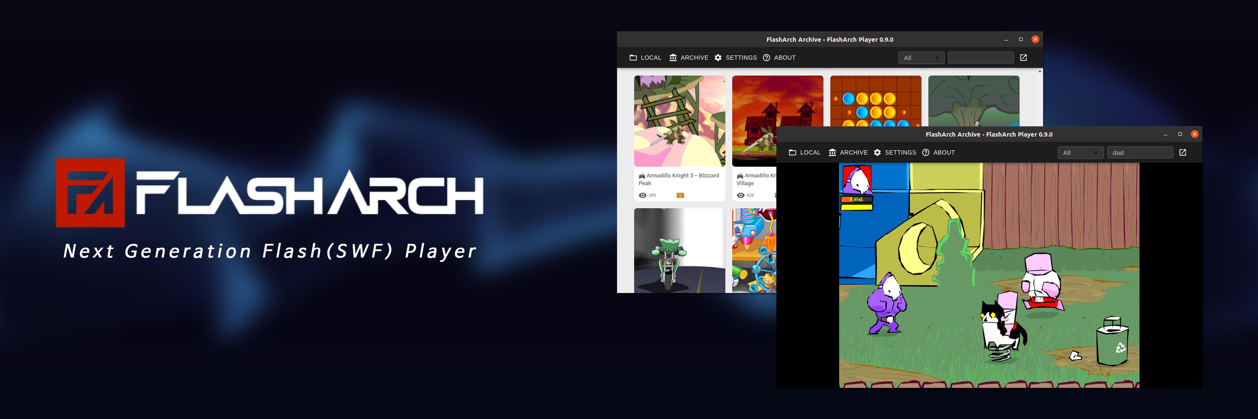FlashArch - Adobe Flash SWF Player banner