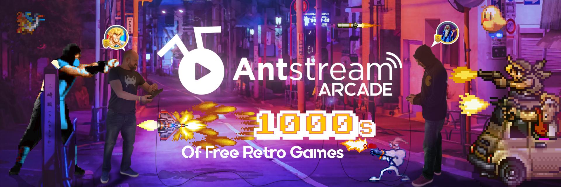 Antstream Arcade banner