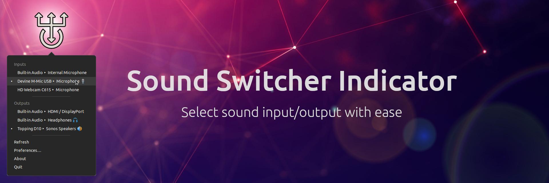 Sound Switcher Indicator banner