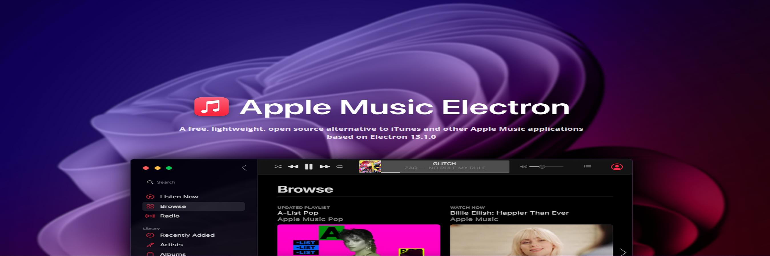 Apple Music Electron banner