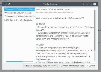 QOwnNotes screenshot