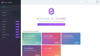 ZeroNet screenshot