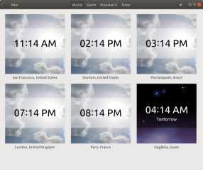 GNOME Clocks screenshot