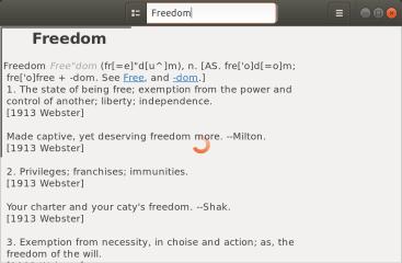 GNOME Dictionary screenshot